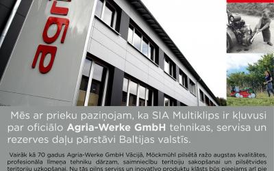 Agria-Werke GmbH pārstāvis Baltijas valstīs